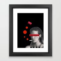 Fashion Is Not Real Life Framed Art Print