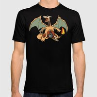 Charizard Anatomy Mens Fitted Tee Black SMALL