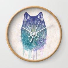 I Dream of Wolf Wall Clock