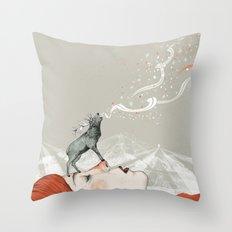 Deer Lady! Throw Pillow