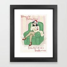 Naughty or Nice Framed Art Print