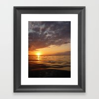 Sunset Swirl Framed Art Print