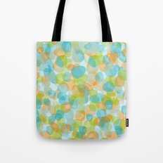 Pebbles Turquoise Tote Bag
