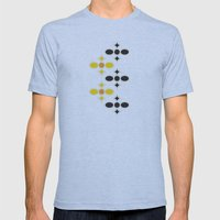 Stone Wall (Cockatoo Yellow) Mens Fitted Tee Athletic Blue SMALL