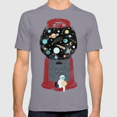 My childhood universe SMALL Mens Fitted Tee Slate
