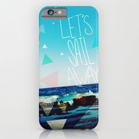 iPhone Cases featuring Let's Sail Away by Leah Flores
