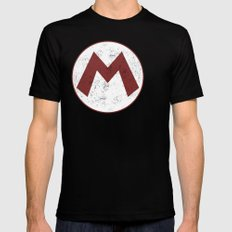 Mario Hero Mens Fitted Tee Black SMALL