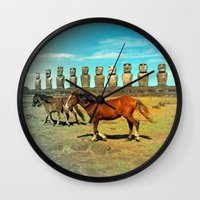 EASTER ISLAND SCENE Wall Clock