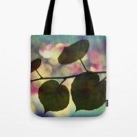 Kiwi Leaves Tote Bag