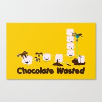 Chocolate Wasted (yellow) Canvas Print