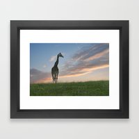 Early morning sunrise on the savanna Framed Art Print