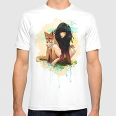 Fox Love Mens Fitted Tee White SMALL