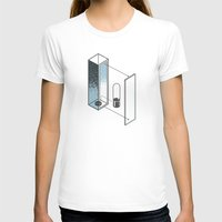 The Exploded Alphabet / I Womens Fitted Tee White SMALL