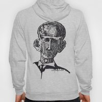 Old man woodblock Hoody