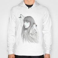 White Feather Hoody
