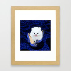 Blue Manolos Framed Art Print