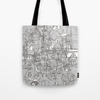 Interlocking Lives, Line… Tote Bag