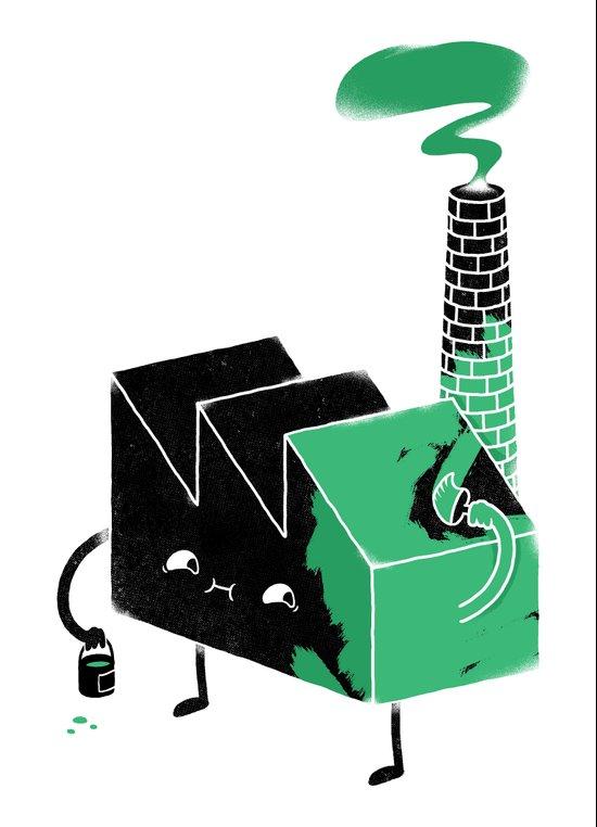 Greenwashing Art Print