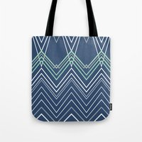 Navy Chevy Tote Bag