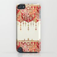 Royal Red Art Deco Doubl… iPod touch Slim Case