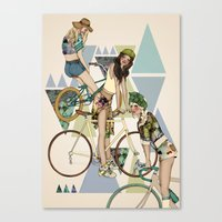 Bike Girls Canvas Print