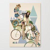 Bike Girls Canvas Print