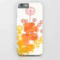 iPhone & iPod Case featuring Flowers and Leaves Abstract - Orange by Olivia Joy StClaire