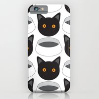 iPhone & iPod Case featuring Cat Face & Bowl by Ravius Kiedn