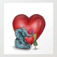 Pachyderm's  bouquet Art Print