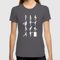 The TARDIS of Silly Walks Womens Fitted Tee Asphalt SMALL