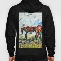 Abstract Horses In Paddo… Hoody