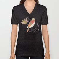 Singing Red Bird Unisex V-Neck