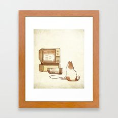 NES Cat  Framed Art Print