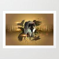 Forest Stalker Art Print