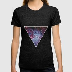 Galaxy Triangle Print Womens Fitted Tee Tri-Black SMALL