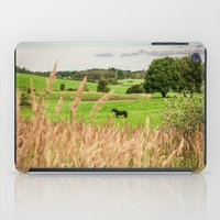 Black horse iPad Case