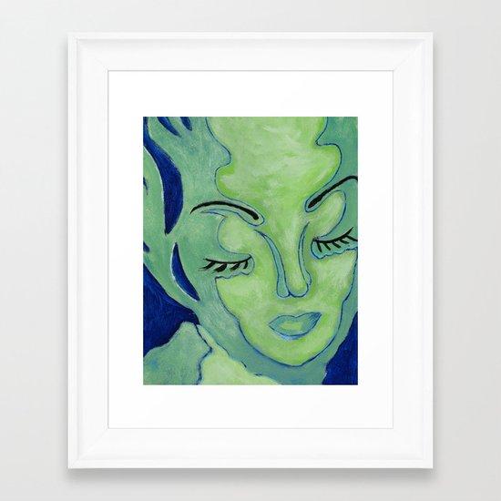 Mug Shot Blue/Lares and Penates Series Framed Art Print