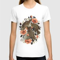 flower T-shirts featuring Spangled & Plumed by Teagan White