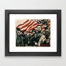 Enlist Framed Art Print