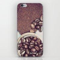 Coffee Beans and Coffee Ground iPhone & iPod Skin