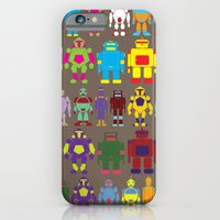 iPhone & iPod Case featuring Robot Army by eojnairb