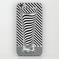 iPhone & iPod Skin featuring Striped Water by Steve Purnell