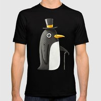 Penguin Mens Fitted Tee Black SMALL