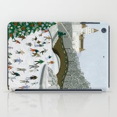 Ice skating pond iPad Case