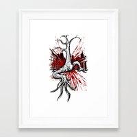 Attack of the Walking Tree Framed Art Print