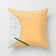 Flying ants Throw Pillow