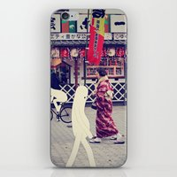 w a l k i n g i n t o k y o iPhone & iPod Skin