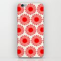Vintage Flower-Red iPhone & iPod Skin