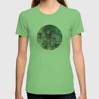 Written Circles #2 society6 custom generation Womens Fitted Tee Grass SMALL
