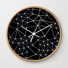 Seg Black Wall Clock